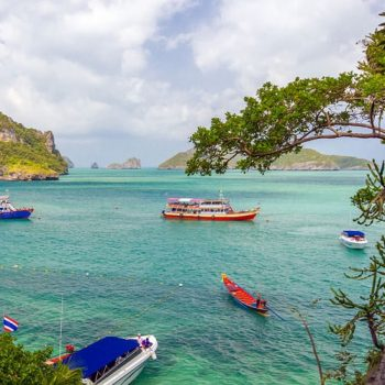 One Day Tour to Angthong Marine Park by Big Boat with Free Kayaking